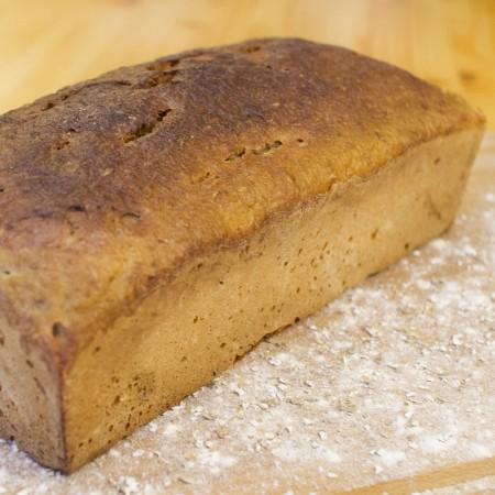 Chlebek domowy na zakwasie żytnim bez drożdży